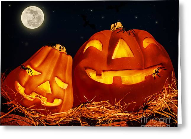 Horrible Greeting Cards - Halloween party Greeting Card by Anna Omelchenko