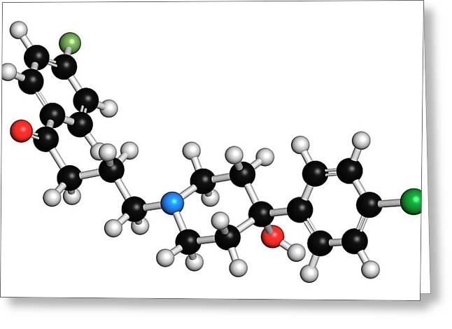 Haloperidol Antipsychotic Drug Molecule Greeting Card by Molekuul