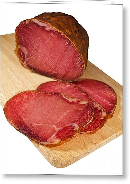 Delicatessen Meat Greeting Cards - Ham Greeting Card by Sinisa Botas