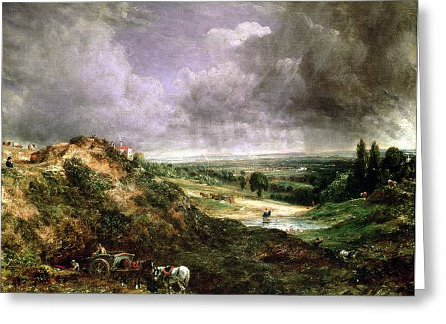 Crt Greeting Cards - Hampstead Heath Greeting Card by John Constable
