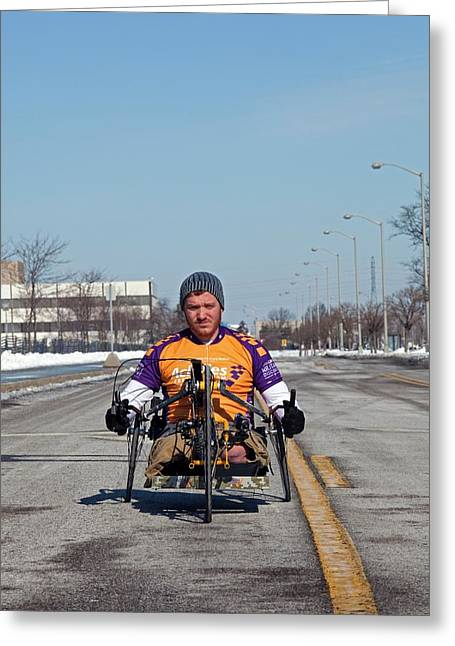 Handcycle Greeting Card by Jim West