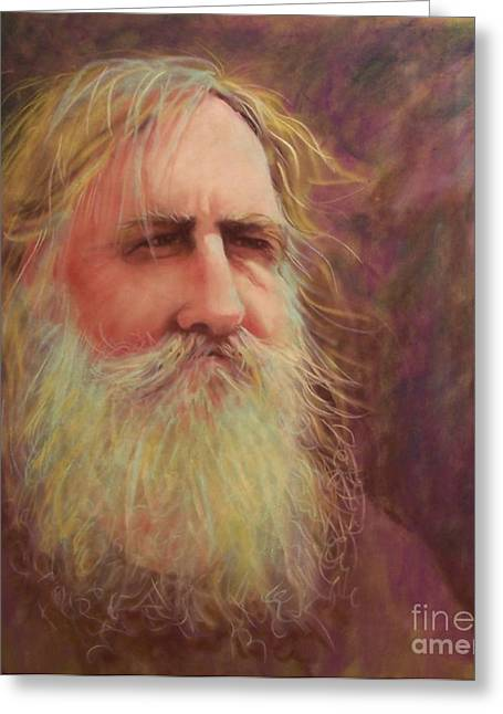 White Beard Pastels Greeting Cards - Handyman Greeting Card by Cynthia Pierson