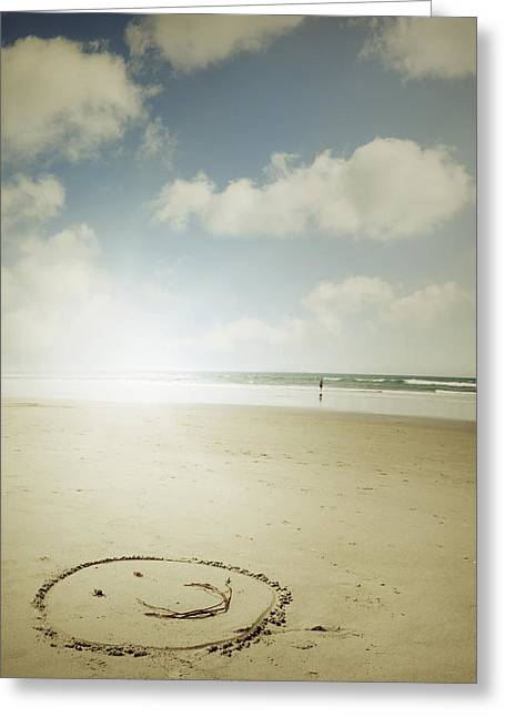 Beach Photograph Greeting Cards - Happiness Greeting Card by Les Cunliffe