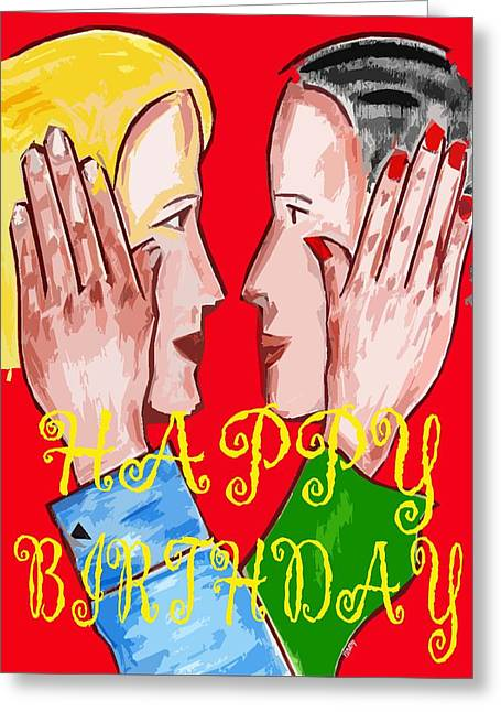 Celebration Art Print Greeting Cards - Happy Birthday 9 Greeting Card by Patrick J Murphy