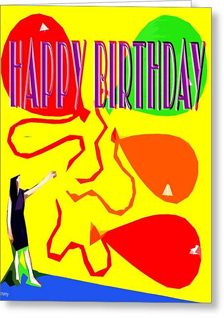 Celebration Art Print Greeting Cards - Happy Birthday 91 Greeting Card by Patrick J Murphy