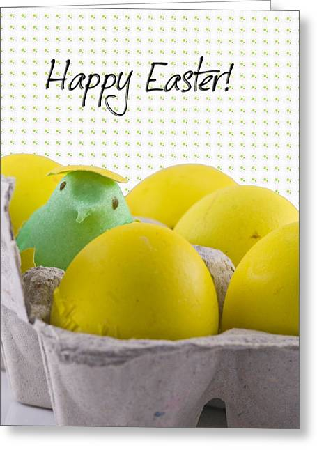 Cracked Eggs Greeting Cards - Happy Easter Greeting Card by Juli Scalzi