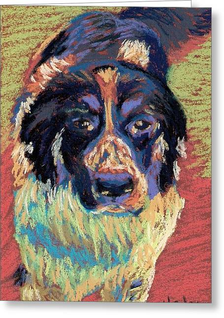 Loose Pastels Greeting Cards - Happy Girl  Greeting Card by Shalene Henley