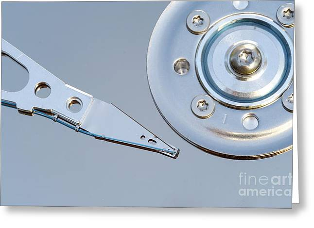 Hardware Greeting Cards - Hard Disc Greeting Card by Michal Boubin