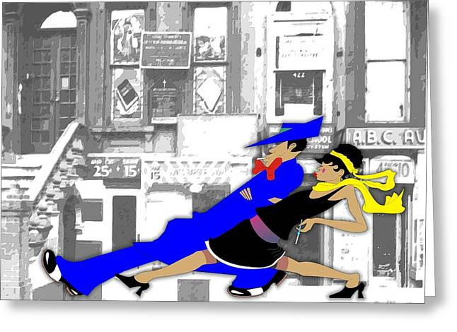 Cigarette Holder Greeting Cards - Harlem Strut Greeting Card by Walter Oliver Neal