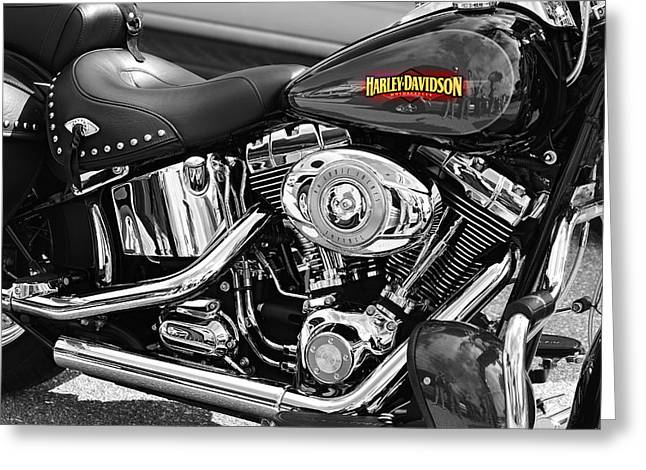 Made In The Usa Digital Greeting Cards - Harley Davidson Greeting Card by Laura  Fasulo