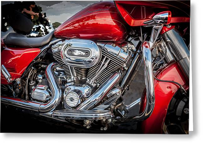 Custom Roadster Greeting Cards - Harley Davidson Motorcycle Harley Bike BW  Greeting Card by Rich Franco