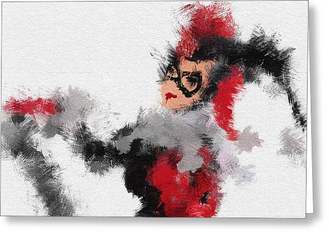 Character Portraits Paintings Greeting Cards - Harley Quinn Greeting Card by Miranda Sether