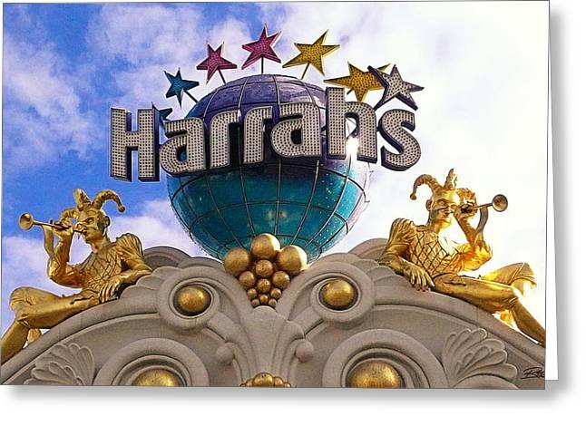Jester Greeting Cards - Harrahs Greeting Card by Ron Regalado