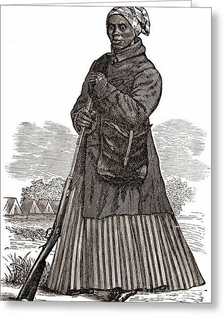 Slaves Greeting Cards - Harriet Tubman, American Abolitionist Greeting Card by Photo Researchers