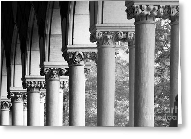 Occasion Greeting Cards - Harvard University Memorial Hall Greeting Card by University Icons
