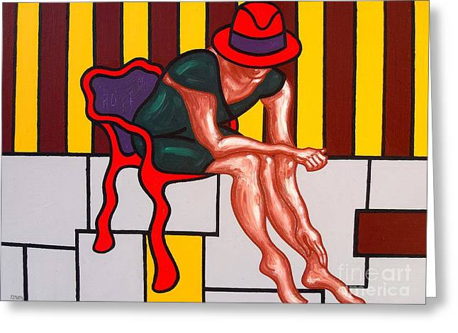 Fashion Abstraction Greeting Cards - Hat Greeting Card by Patrick J Murphy