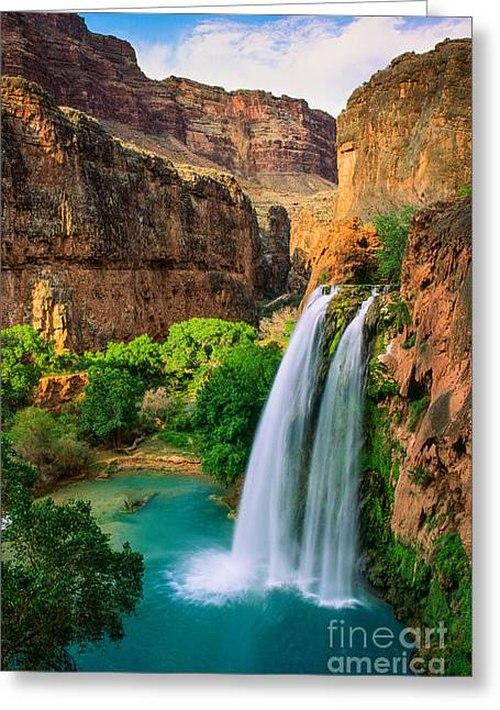 State Park Canyon Greeting Cards - Havasu Canyon Greeting Card by Inge Johnsson