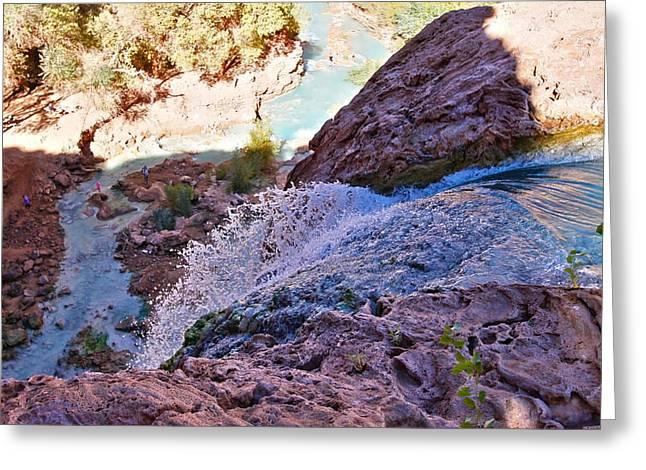 Havasu Falls  Greeting Card by Stellina Giannitsi