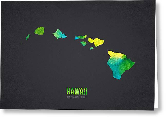 Hawaii Mixed Media Greeting Cards - Hawaii the Islands of Aloha Greeting Card by Aged Pixel