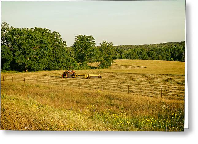 Hay Rake Greeting Cards - Hay Rake Work in Texas Greeting Card by Mountain Dreams