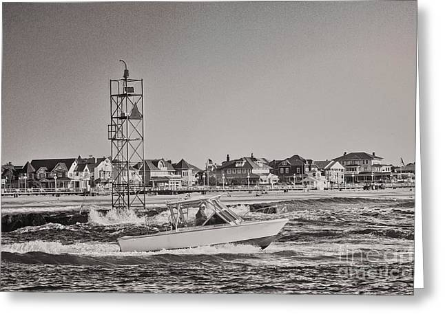 Oceanview Greeting Cards - HDR black white beach ocean HDR romantic fishing photo picture photography art gallery pic photos Greeting Card by Pictures HDR