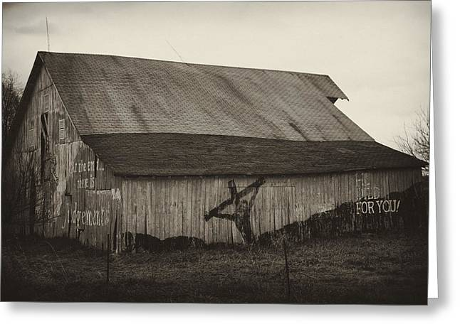 Rural Indiana Greeting Cards - HE died for you Greeting Card by Off The Beaten Path Photography - Andrew Alexander