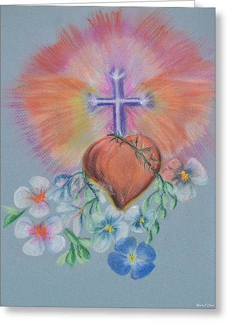 Faith Pastels Greeting Cards - He Is Risen Greeting Card by Maria Urso