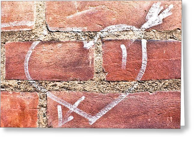 Adoration Greeting Cards - Heart Graffiti Greeting Card by Tom Gowanlock