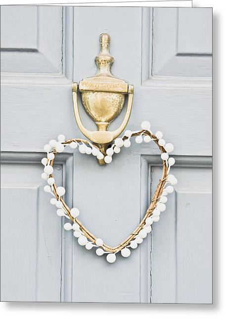 Christmas Day Greeting Cards - Heart wreath Greeting Card by Tom Gowanlock