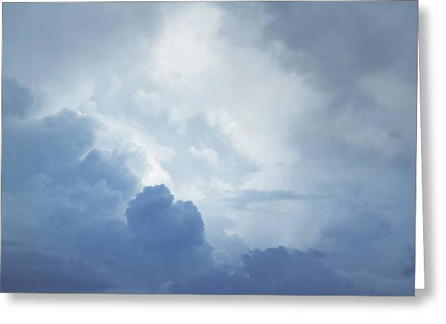 Dramatic Sky Greeting Cards - Heaven Greeting Card by Les Cunliffe