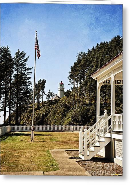 Heceta Greeting Cards - Heceta Head Lighthouse Greeting Card by Scott Pellegrin