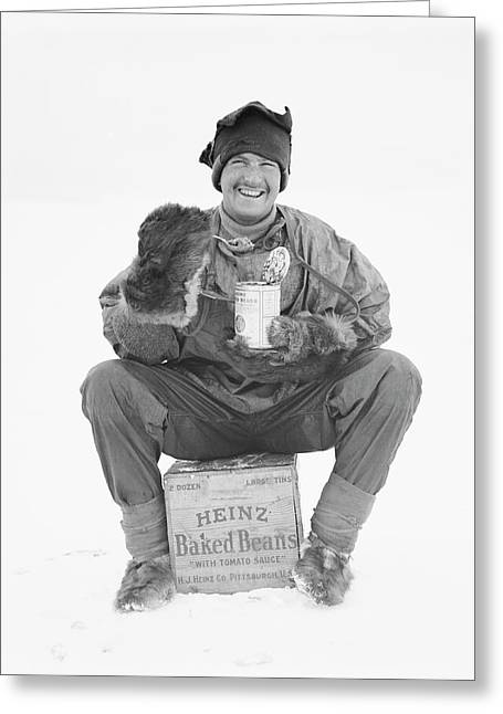 Heinz Baked Beans In Antarctica Greeting Card by Scott Polar Research Institute