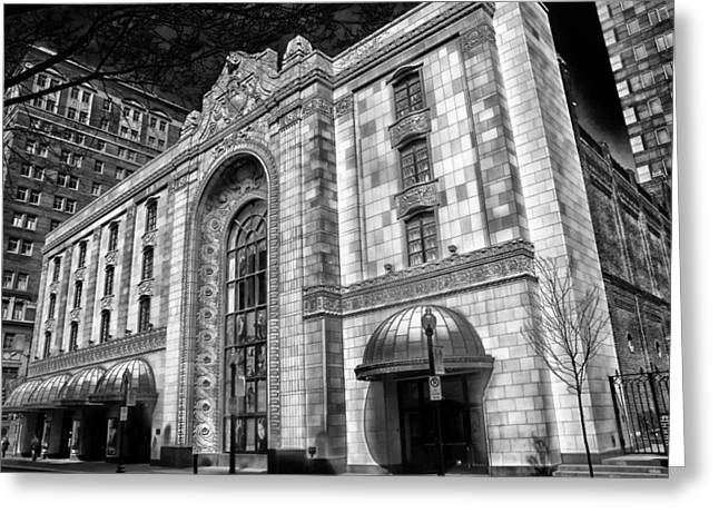 Heinz Hall Greeting Cards - Heinz Hall in Pittsburgh Greeting Card by Mountain Dreams