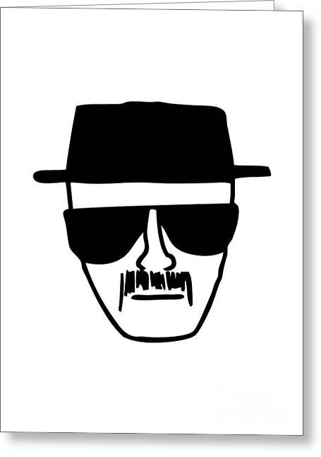 White Glass Greeting Cards - Heisenberg Breaking Bad Greeting Card by Caio Caldas