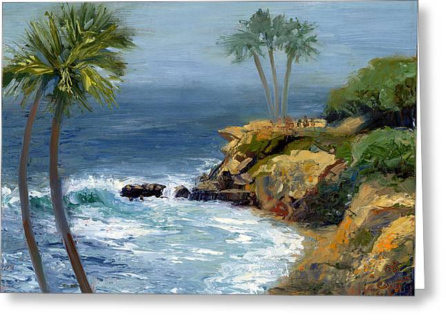 Riviera Greeting Cards - Heisler Park Greeting Card by Alice Leggett
