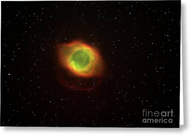 Helix Photographs Greeting Cards - Helix Nebula Greeting Card by Dr. Luke Dodd