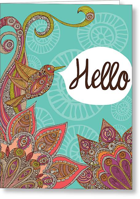 Hello Greeting Cards - Hello Greeting Card by Valentina Ramos