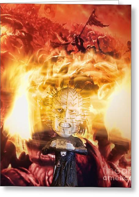 Hellraiser Greeting Cards - Hellraiser Greeting Card by Rafael  Pacheco