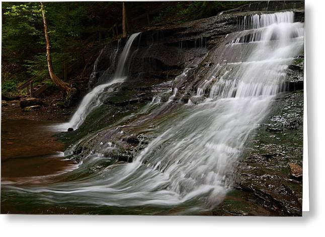 Mcconnells Mill Greeting Cards - Hells Hollow Falls at McConnells Mill Greeting Card by Jetson Nguyen