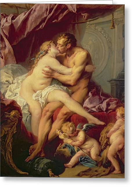 Francois Greeting Cards - Hercules and Omphale Greeting Card by Francois Boucher