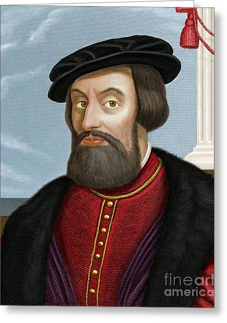 Vale Greeting Cards - Hernan Cortes, Spanish Conquistador Greeting Card by Maria Platt-Evans