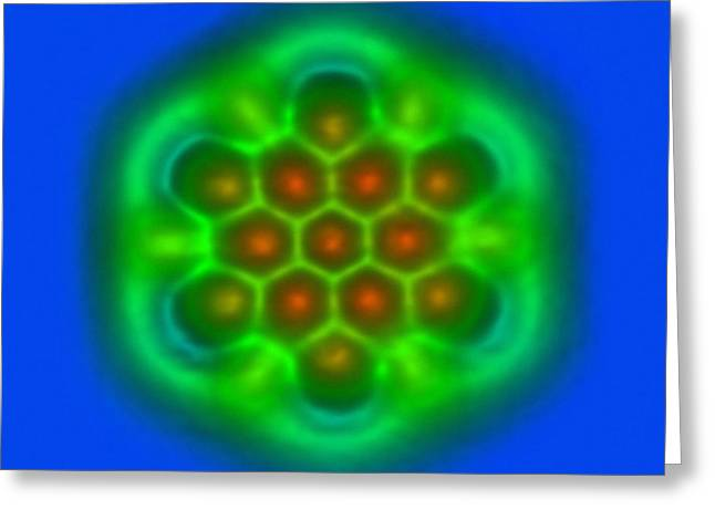 Hexabenzocoronene Molecule Greeting Card by Ibm Research