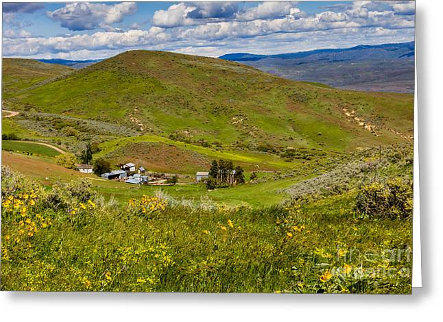 Back Country Greeting Cards - Hidden Ranch Greeting Card by Robert Bales