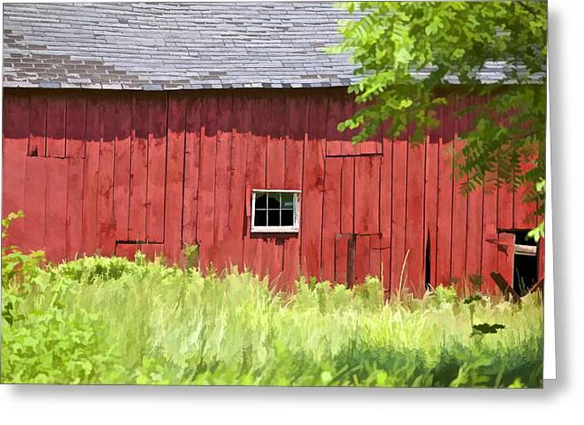 Worn In Greeting Cards - Hidden Rustic Barn II Greeting Card by David Letts