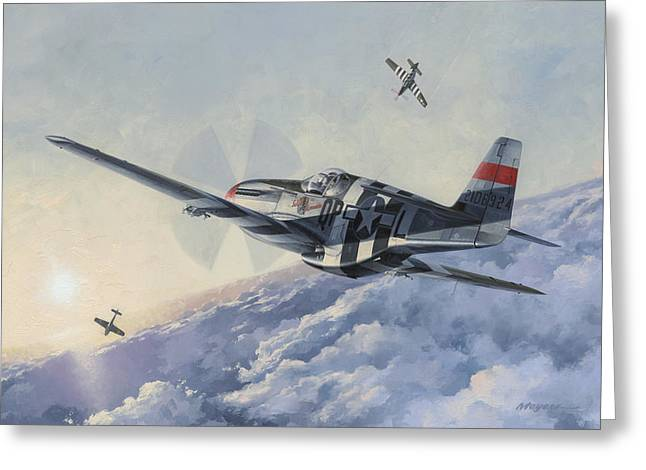 Spitfire Greeting Cards - High Angle Snapshot Greeting Card by Wade Meyers