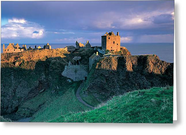 On Top Of Greeting Cards - High Angle View Of A Castle Greeting Card by Panoramic Images