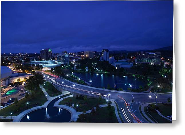 Huntsville Greeting Cards - High Angle View Of A City, Big Spring Greeting Card by Panoramic Images