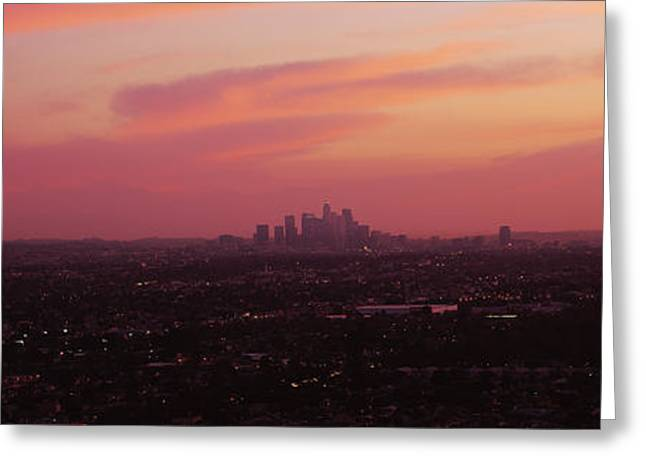 In-city Greeting Cards - High Angle View Of A City, Los Angeles Greeting Card by Panoramic Images