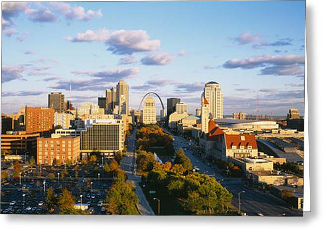 Kansas City Greeting Cards - High Angle View Of A City, St. Louis Greeting Card by Panoramic Images