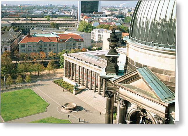 Berlin Cathedral Greeting Cards - High Angle View Of A Formal Garden Greeting Card by Panoramic Images